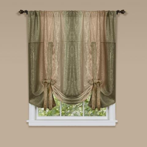 Achim Ombre 50-inch x 63-inch Tie Up Window Curtain