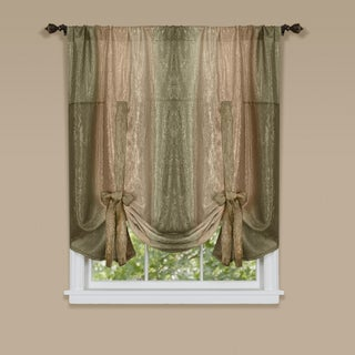 Achim Ombre 50-inch x 63-inch Tie Up Window Curtain