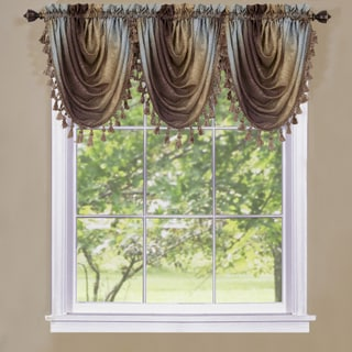 Achim Ombre Polyester Window Curtain Waterfall Valance