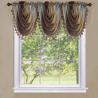 Achim Achim Ombre Window Curtain Waterfall Valance