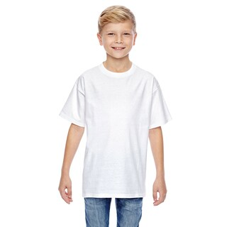 Nano-T Boys' White Cotton T-shirt