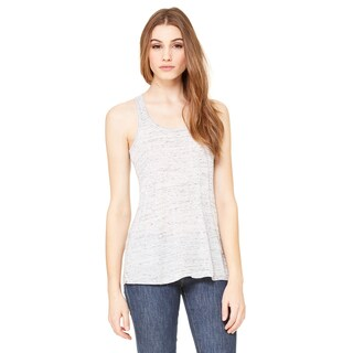 Flowy Women's White Marble Racerback Tank (More options available)