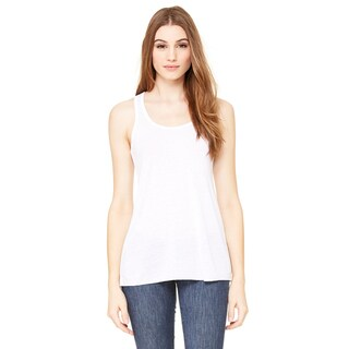 Flowy Women's White Racerback Tank (5 options available)