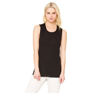Flowy Women's Black Scoop Muscle Tank