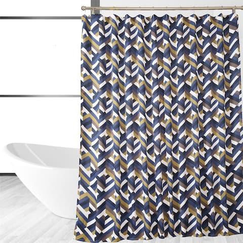 Multi Covered Designer Chevron Shower Curtain