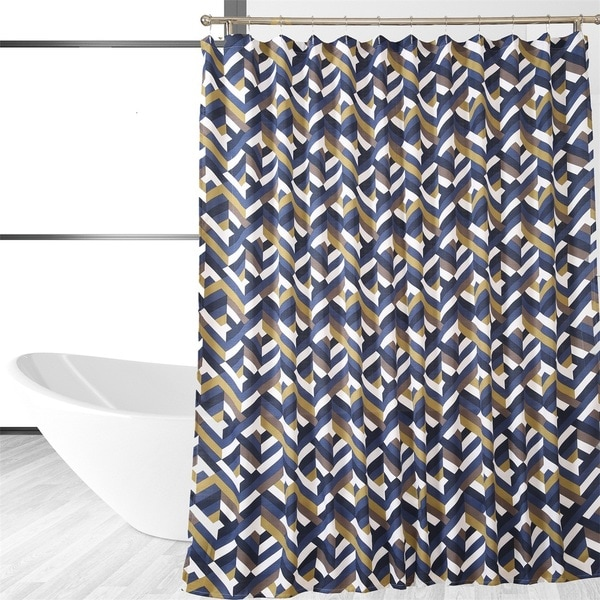 Multi-Covered Designer Chevron Shower Curtain