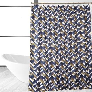 Multi-Covered Designer Chevron Shower Curtain
