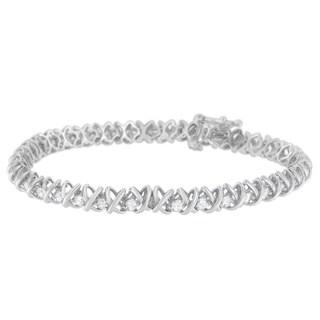 18k White Gold 3ct TDW Round-cut Diamond Tennis Bracelet (H-I, SI1-SI2)