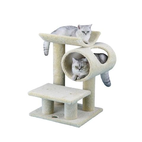 Go Pet Club 25-inch Tall Premium Cat Tree - Beige