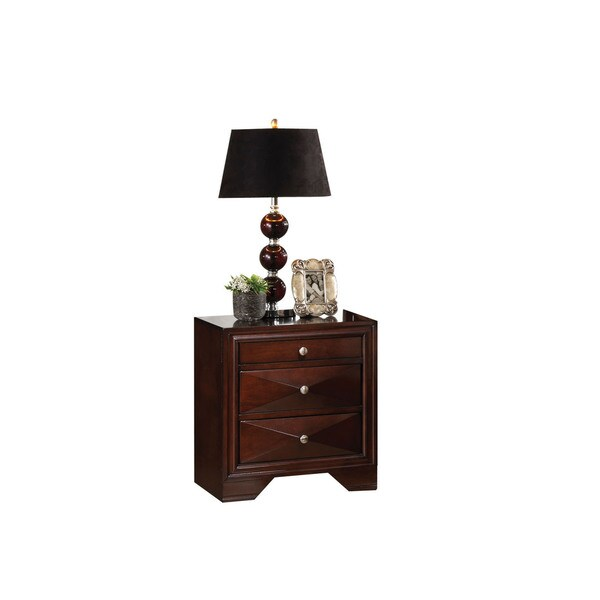Windsor Merlot 2-Drawer Nightstand