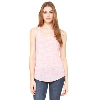 Flowy Women's Red Marble V-Neck Tank