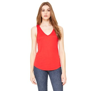 Flowy Women's Red V-Neck Tank