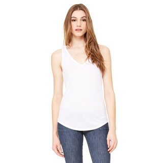 Flowy Women's White V-Neck Tank