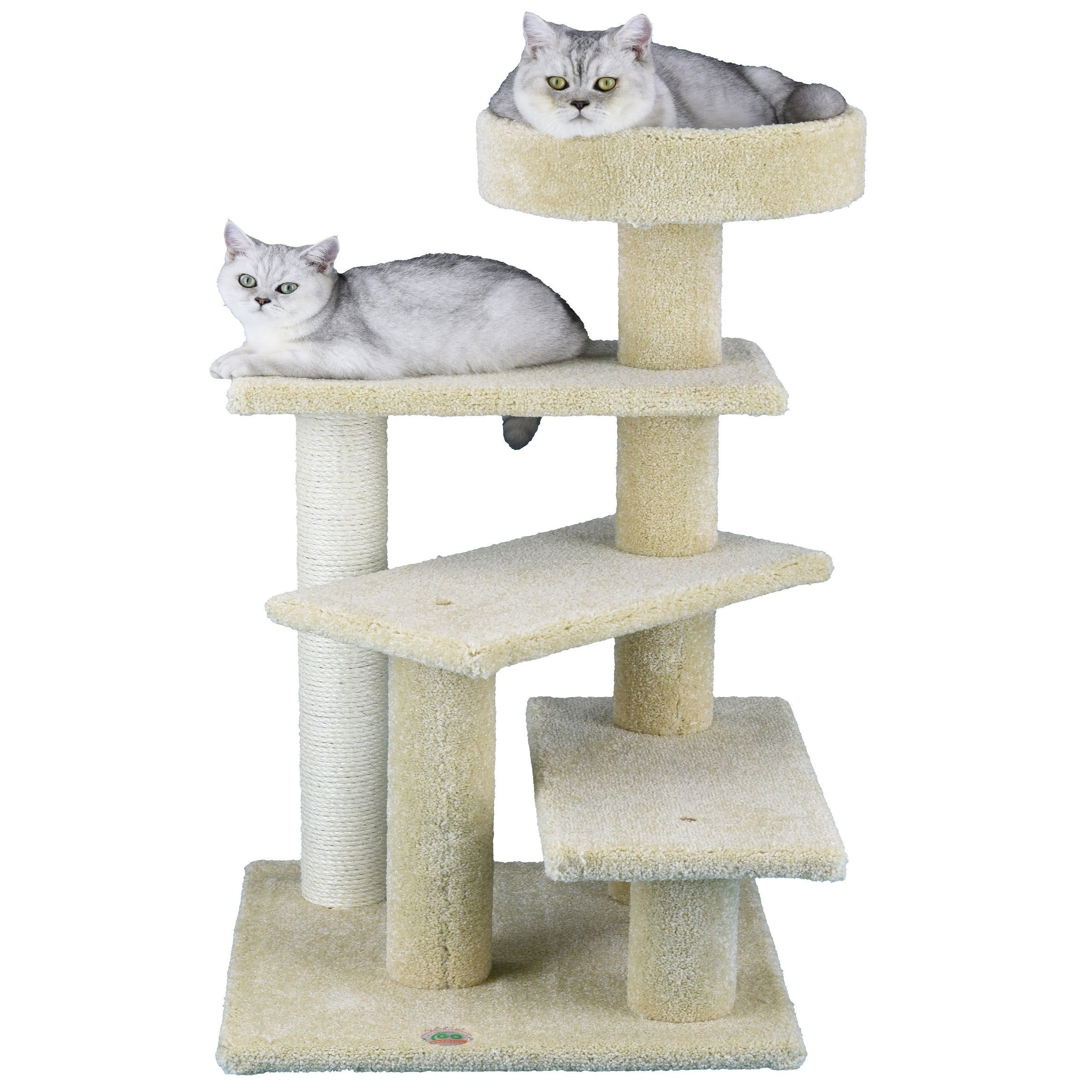 """GoPetClub Beige 31-inch Tall Premium Cat Tree (18""""W x 20""""..."""