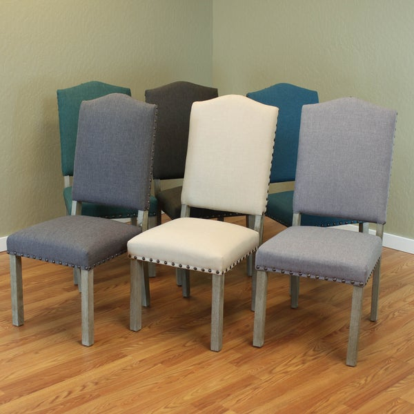 maceda linen dining chairs set of 2 free shipping today