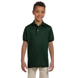 Spotshield Boys' Forest Green Jersey Polo