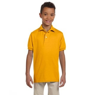 Spotshield Boys' Gold Jersey Polo