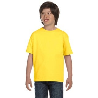 Hanes Boys' Youth Comfortsoft Yellow Heavyweight T-shirt