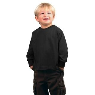 Boys' Jersey Boys' Black Long-Sleeve T-Shirt