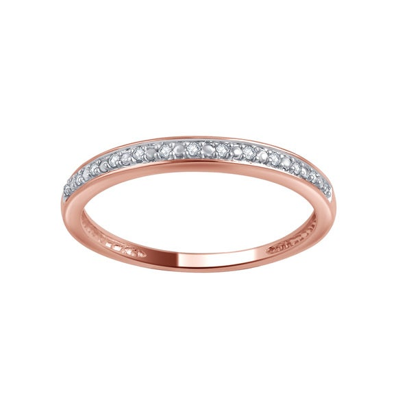 Divina 10k Gold Diamond Accent Wedding Band