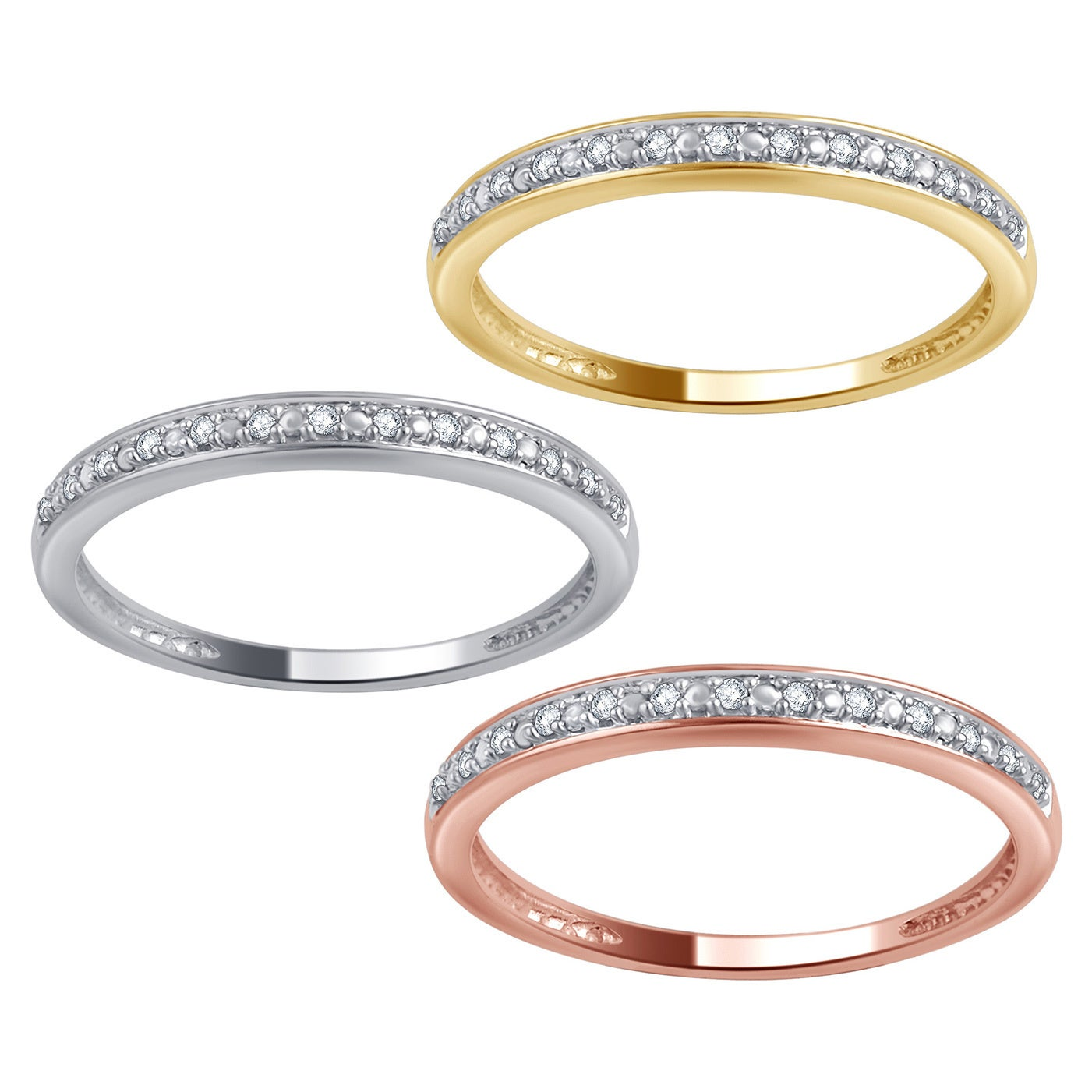 Jewelry & Watches Latest Collection Of Womens 0.15 Ct Classic Eternity Wedding Band Ring White Gold Plated Size 6-9