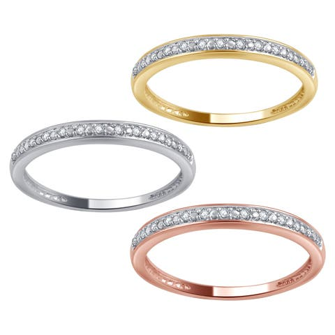 Divina 10kt Gold Diamond Accent Wedding Band