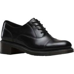 Women's Dr. Martens Henrietta 4 Eye Shoe Black Polished Smooth