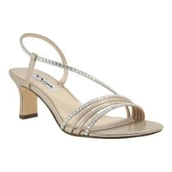 Women's Nina Gerri Strappy Slingback Sandal Taupe Metallic Faux Suede