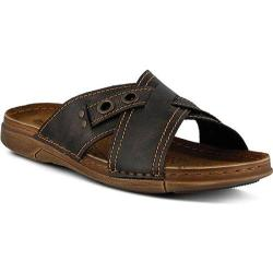 Men's Spring Step Roland Slide Brown Manmade