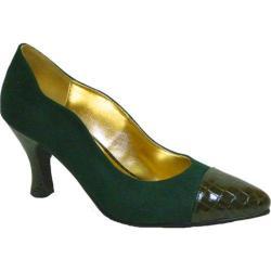 Women's Bellini Zaza Pump Green/Croc Microsuede