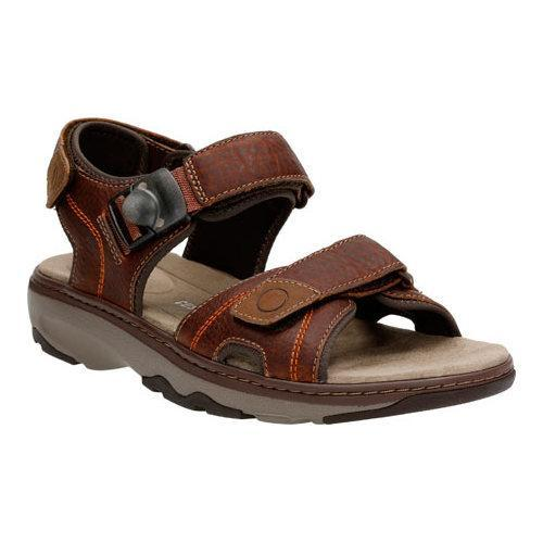 60b1397e0e44 Shop Men s Clarks Raffe Sun Active Sandal Brown Tumbled Leather - Free  Shipping Today - Overstock - 12010063