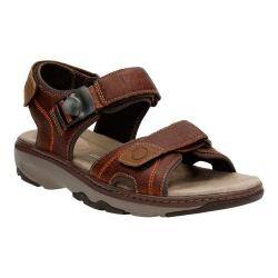 Men's Clarks Raffe Sun Active Sandal Brown Tumbled Leather