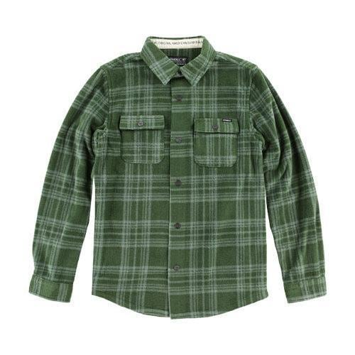 24b6f31a Shop Boys' O'Neill Glacier Plaid Long Sleeve Shirt - Big Kids Olive - Free  Shipping On Orders Over $45 - Overstock - 12010384