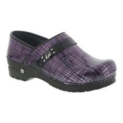 Women's Sanita Clogs Koi Carol Closed Back Clog Purple Printed Patent