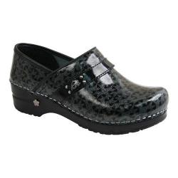 Women's Sanita Clogs Koi Carol Gleam Closed Back Clog Black Printed Patent