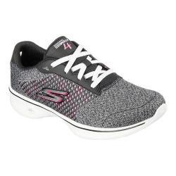 Women's Skechers GOwalk 4 Exceed Walking Shoe Black/Hot Pink