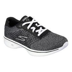 Women's Skechers GOwalk 4 Exceed Walking Shoe Black/White