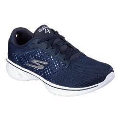 Women's Skechers GOwalk 4 Exceed Walking Shoe Navy/White