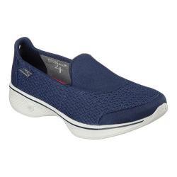 Women's Skechers GOwalk 4 Pursuit Slip On Walking Shoe Navy/Gray