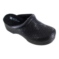 Women's White Mountain Cabe Clog Black Tumbled Leather