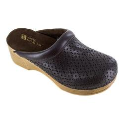 Women's White Mountain Cabe Clog Brown Tumbled Leather