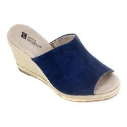 Women's White Mountain Catori Wedge Slide Blue Suede