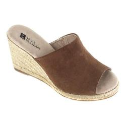 Women's White Mountain Catori Wedge Slide Whiskey Suede