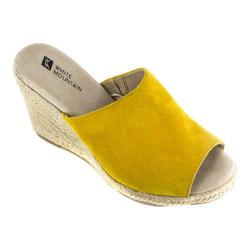 Women's White Mountain Catori Wedge Slide Yellow Suede