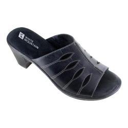 Women's White Mountain Gessie Open-Toe Clog Black Leather