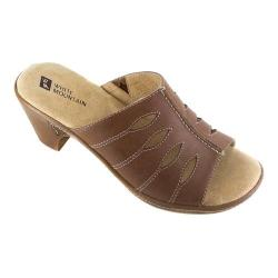 Women's White Mountain Gessie Open-Toe Clog Brown Leather