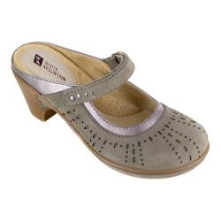 Women's White Mountain Gull Mule Grey Nubuck/Metallic Smooth
