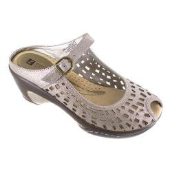 Women's White Mountain Marvy Mule Platinum Leather
