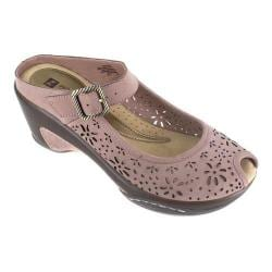 Women's White Mountain Miso Mule Light Brown Leather