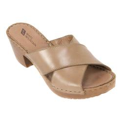 Women's White Mountain Moon Slide Taupe Leather